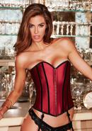 Satin Heart Corset Red/blk M