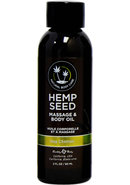 Earthly Body Hemp Seed Nag Champa Massage And Body Oil 2...